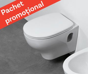 WC suspendat + capac soft-close – Azzurra Ceramica Pratica