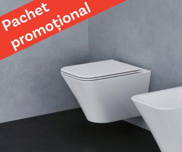 WC suspendat Azzurra Ceramica Build + capac soft-close gratuit!