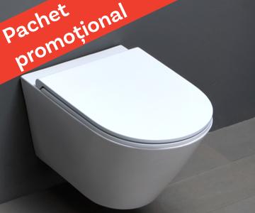 WC suspendat Azzurra Ceramica Forma + capac soft-close gratuit!