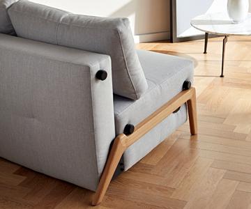 Canapea extensibilă Innovation Living Cubed Wood