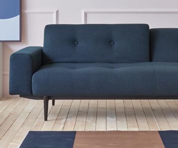 Canapea extensibilă Innovation Living Ample cu brațe